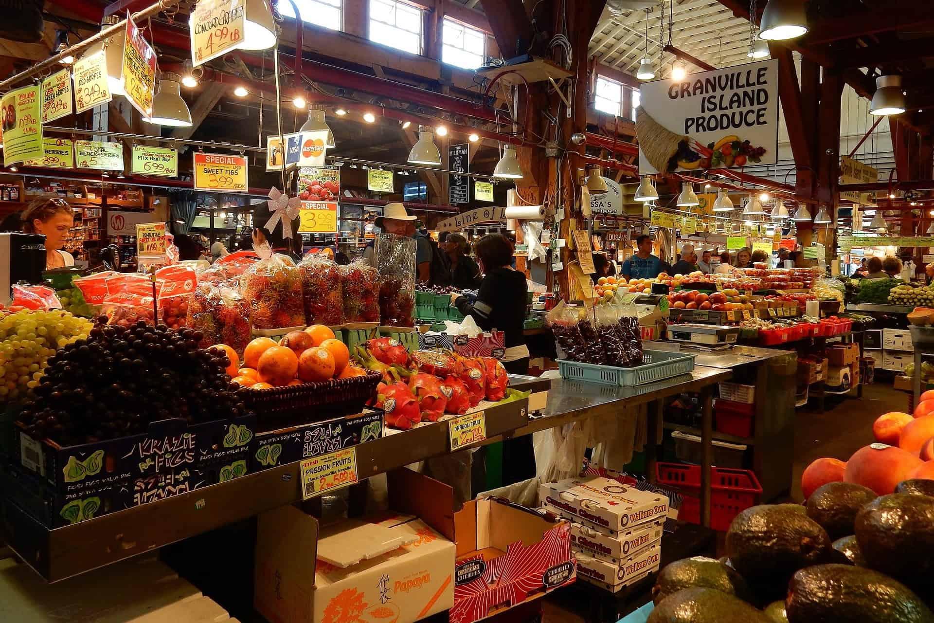 Granville Island Public Market Vancouver